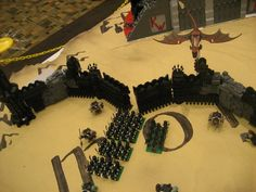 """The Black Gate by Heath Flor - Journey of the Fellowship 2011 - """"Best Group Layout Brickworld 2011"""""""