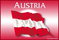Bandera de Austria. Banderas, ver tarjetas postales virtuales ...