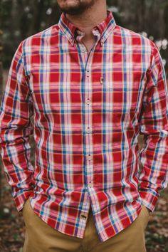 YUNY Mens Long-Sleeve Plaid Cozy Formal Classic Oxford Poplin Shirt 15 XS