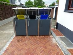 Mülltonnen-Verkleidung Klappdeckel