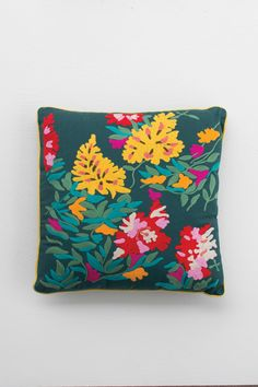 Hand Stitched Pillow - Floral #2
