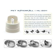 Amazon.com : Tri-polar 63oz Pet Water Fountain Fresh Flow Waterfall Style Eco-Friendly Cat Water Fountain Drinkwell and PP Dog Drinking Fountain Dog Water Bowls Cat Water Dispenser for Improved Health : Pet Supplies