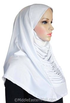 Ruched Cascade Hijab 1 piece Lycra Amira Available in 10 Colors Instant Hijab, Fall Over, 1 Piece, Summer Outfits, Hijabs, Elegant, Delicate, Aurora Borealis, Flat