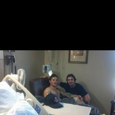 Pic of Christian Bale visiting one of the survivors from the Aurora shooting = (he visited everyone else, & stopped by the memmorial site) your a great man christian<3