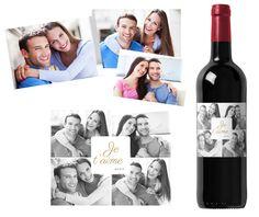Des souvenirs et des mots d'amour sur une bouteille personnalisée ! Un cadeau original pour la Saint-Valentin !   http://www.monvinpersonnalise.fr