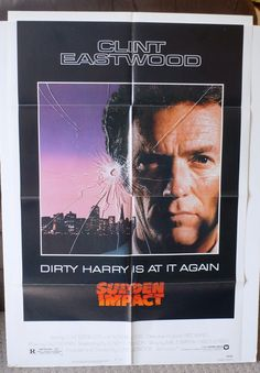 """Movie Poster  """"Sudden Impact""""  Original 1983 Movie Poster - Clint Eastwood by MoviePostersAndMore on Etsy"""