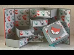 Stepper Box using Stampin' Up! Fox Builder Punch! - YouTube