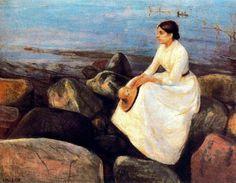 Summer Night (Inger On The Shore) Edvard Munch 1889.