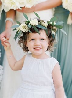 Flower girl cuteness: http://www.stylemepretty.com/2016/02/04/black-tie-secret-garden-wedding/ | Photography: Jose Villa - http://josevilla.com/