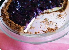 Yup, i want to make this....Desserts for Dudes: blueberry cheesecake pie ::: bake at 350 blog