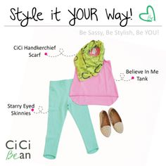 Spring CiCi Style   CiCi Bean - clothing for tween girls.   www.peekaboobeans.com   #cicibeanstyle