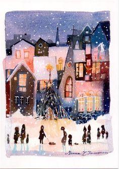 20. Julkort, 14,5 x 10 cm, av den finska konstnärinnan Minna Immonen
