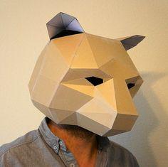 Bär Maske machen Sie Ihre eigenen aus recycelten von Wintercroft