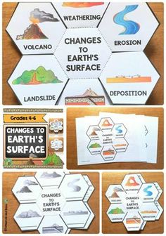 Changes to Earth's surface-Interactive Science Notebook foldables This foldable will help your students understand how slow and fast changes affect Earth's surface. This resource will fit perfectly in interactive science notebooks or lapbooks and includes Fourth Grade Science, Elementary Science, Science Classroom, Middle School Science, Teaching Science, Science Activities, Science Projects, 4th Grade Science Experiments, Elementary Education