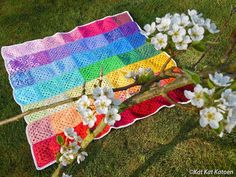 Rainbow Blanket from Kat Kat Katoen - Crochet Inspiration