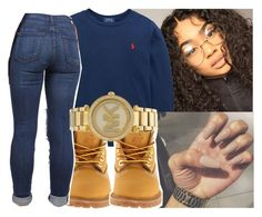 """Sweater weather"" by eazybreezy305 ❤ liked on Polyvore featuring Ralph Lauren, Timberland, Michael Kors, cute, sweaterweather and Fall2016"