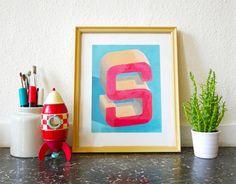 Sylvain Combe - S Lettering #acrylic #paint #paper #letter (25x30)