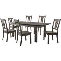 Perfect Union Rustic Sanda 7 Piece Wood Dining Set | Wayfair