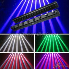 8 x 10W 4in1 RGBW Linear Beam rotation bar moving head led  dmx 512 :10/38CHS  TILT Scan   Amazing beam dj effect  CE,RoHs