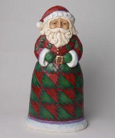 Look at this #zulilyfind! Red & Green Santa Statue by Jim Shore #zulilyfinds