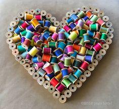 Vintage Wooden Thread Spools   9/5/16