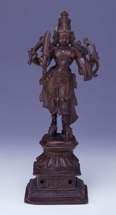 Figure (Virabhadra). Carrying sword, spear, shield and bow. Made of bronze.