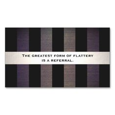 Satin Stripe Gray Event Planning Referral Card DoubleSided