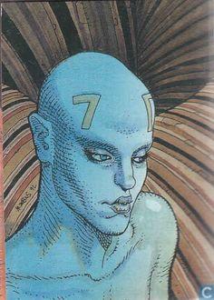 Trading cards - Moebius (collector cards) - Raven Jean Giraud, Comic Book Artists, Comic Artist, Illustrations, Illustration Art, Heavy Metal Comic, Moebius Art, Jordi Bernet, Science Fiction