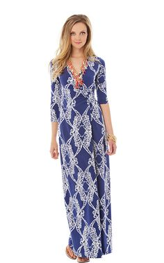 The Yvette maxi wrap dress is a chic update to a traditional maxi. This long sleeve maxi dress is figure flattering and chic.