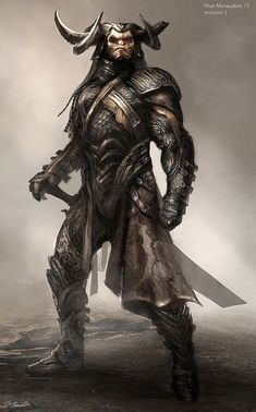 Concept Art World » Thor: The Dark World Costume Concept Illustrations by Jerad…