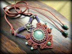 画像5: ミャンマー産ジェイド翡翠のマクラメ編みデザインネックレス*天然石パワーストーン