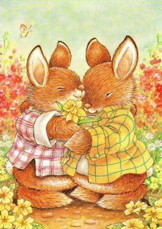 Celebrate Each New Day Hug Illustration, Cute Animal Illustration, Animal Illustrations, Bunny Art, Cute Bunny, Easter Pictures, Cute N Country, Cute Clipart, Penny Black
