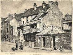 """Lionel Lindsay - """"Old Gloucester Street"""""""