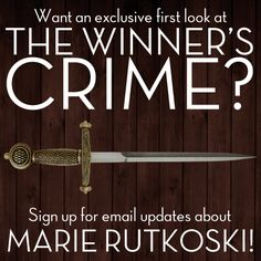 THE WINNER'S CRIME by Marie Rutkoski is the second book in THE WINNER'S TRILOGY.