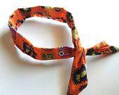Fall Twist Headband, Autumn Orange Leaves Fabric Wire Wrap Hair Accessory, Orange Red Green. $12.00, via Etsy.
