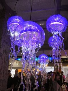 Jellyfish chandelier imagine hundreds of these hanging from a kele design diaries seen at grand designs live 2014 these jellyfish lights are unique in their design by the contemporary chandelier company mozeypictures Choice Image