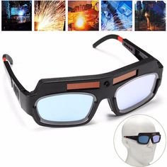 Solar Powered Auto Darkening Welding Mask Helmet Goggle Welders Glasses Arc PC Goggles For Welding Protection Welding Glasses, Welding Goggles, Auto Darkening Welding Helmet, Welding Training, Goggles Glasses, Eye Glasses, Welding Rods, Solar Power, Oakley Sunglasses