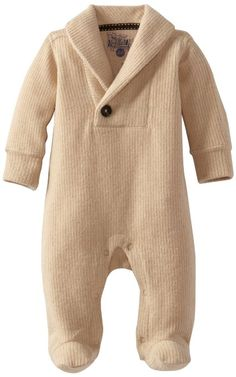 Kapital K Baby-Boys Newborn Corduroy Fleece Shawl Collar Coverall, Gingerbread, 0-3 Months: Clothing. $36
