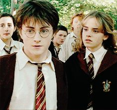 Hermione and the year she constantly terrorised Malfoy!