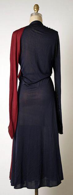 Afternoon dress Madame Grès (Alix Barton) (French, Paris 1903–1993 Var region) Date: 1937–39 Culture: French Medium: silk. Back