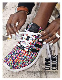Multicolored. Geometric. Adidas. Sneakers. Kicks. Urban.
