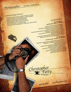 Resume - Photographer by ~rkaponm on deviantART