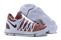 322100cd0cd1 Nike KD 10 White Multi-Color New Adidas Shoes