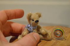 Miniature dollhouse teddy bear collectible by EclecticWandering