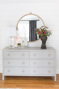 Gray bedroom dresser