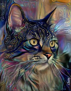 Jeff Koons, Kittens Cutest, Cute Cats, Pop Art, Dragon Pictures, Wildlife Paintings, Street Art, Cat Drawing, Blue Art