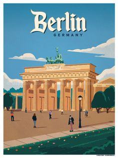 Size - Size includes a inch white border around the artwork. Digital Print on 80 lb cover matte white Physical poster does. Virgin Islands National Park, Berlin Travel, London Poster, Plakat Design, Brandenburg Gate, Beach Posters, National Park Posters, Jolie Photo, Vintage Travel Posters