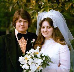 1970s301 1970s Wedding, Vintage Wedding Photos, Vintage Weddings, Bridal Dresses, Wedding Gowns, Flower Girl Dresses, Wedding Day Inspiration, Wedding Ideas, Period Outfit
