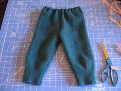 Recycled wool sweater longies instructions