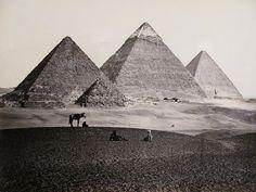 Francis Frith. Pyramids of El Geezeh, c. 1857.